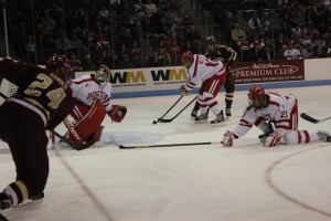 BU vs. BC, Sean Escobedo Blocks a Shot